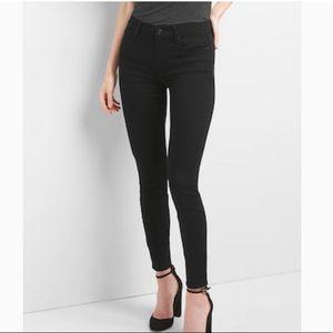 Gap True Skinny Black Jeans